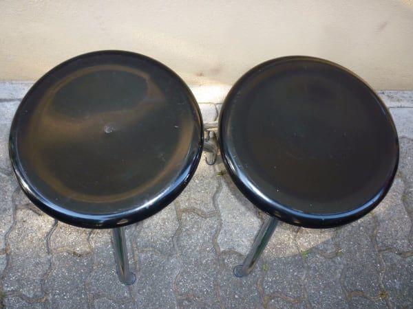 Zwei Drehhocker Bemag Sissach, 1970er Jahre