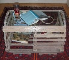 coffee table made from lobster trap www.trapworks.com