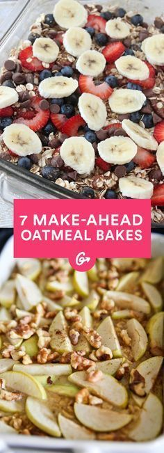 7 Oatmeal Bakes for the Perfect Make-Ahead Breakfast #baked #breakfast #casserole greatist.com/...