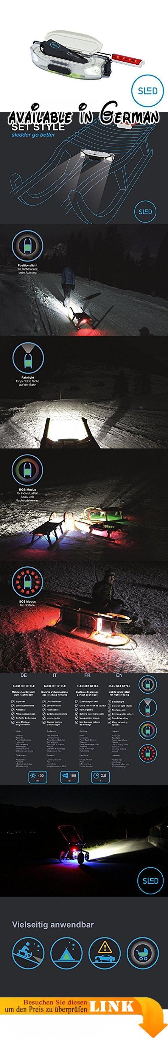 SLED - die Stirn-Lampe für Schlitten und Rodel, mit RGB LED, Akku aufladbar mit USB, 400 Lumen, wasserdicht, passt auf Kathrein Torggler Gasser Fluckinger Gallzeiner Sirch Ress Rijo. passt auf alle gängigen Rodel von Kathrein, Gasser, Gallzeiner, Fluckinger, Rijo, Torggler etc. und auf Davoser Schlitten, ideal für Rennrodel, Tourenrodel und Familienrodel. Lichtleistung: max 400 Lumen (2 x High-Power LED) Reichweite: > 100 m ersetzt die Stirn-Lampe. Batterie: Akku wiederaufladbar