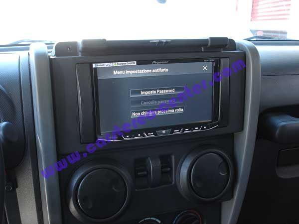 Pioneer AVH-X8600BT su Wrangler | 2DIN. Le installazioni ...