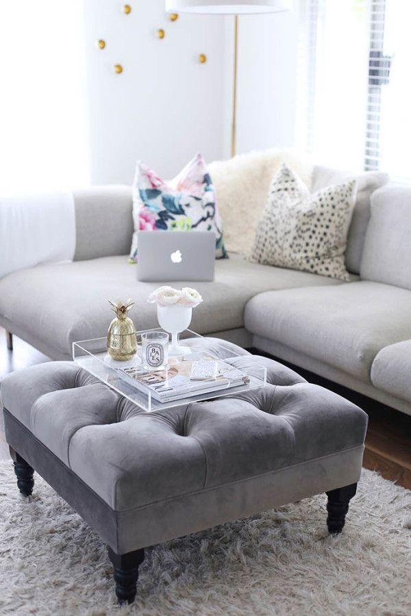 Best 25+ Ottoman tray ideas on Pinterest Trays, Decorative items - living room ottoman