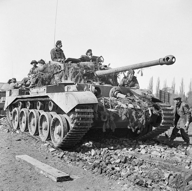 A Comet tank of 11th Armoured Division in the Weser bridgehead, Germany, 7 April…