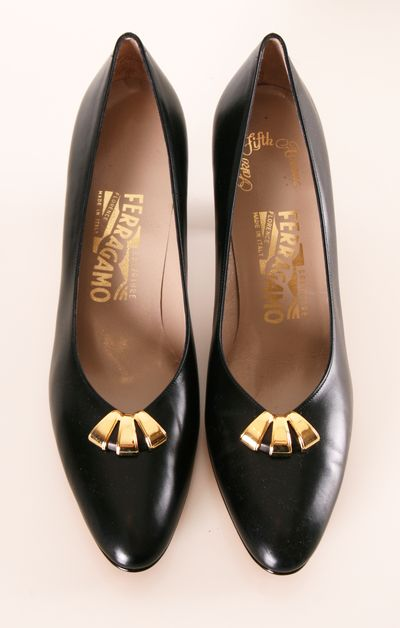 Black Pumps with Gold Embellishment / by Salvatore Ferragamo
