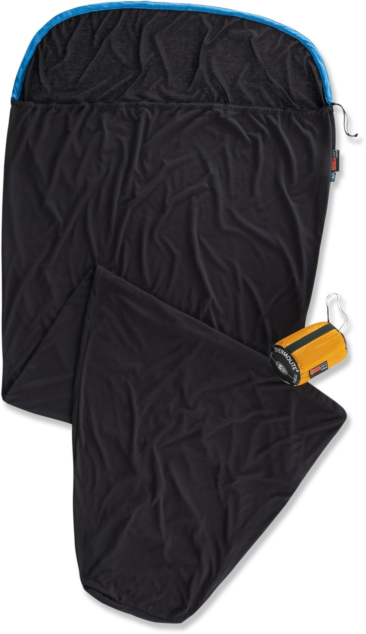 Sea to Summit Reactor Thermolite Mummy Bag Liner.  Increases your bags warmth up to 15 degrees, and weighs in at 8.1 oz.