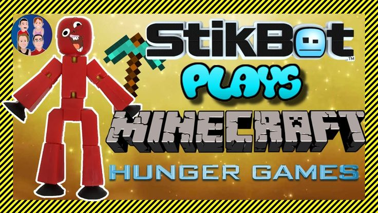 Stikbot Plays!! 😜 Minecraft Online - 💩 Hunger Games 💩 - How Hungry is St...