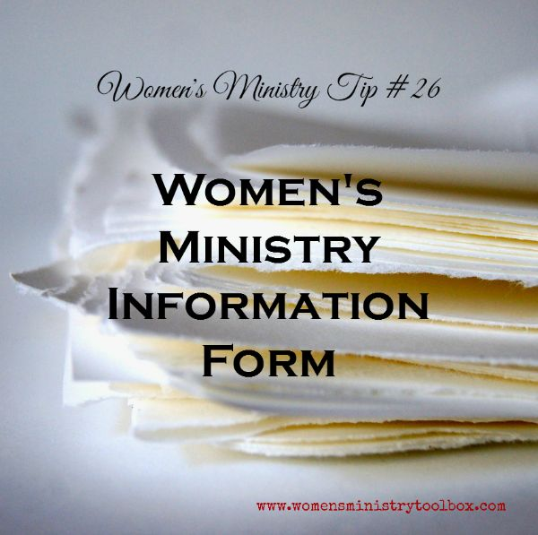 Women's Ministry Information Form (Free Printable