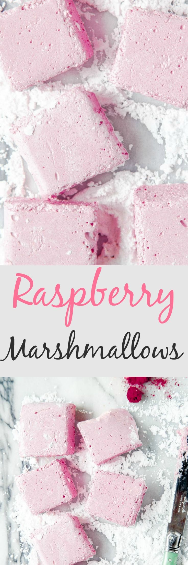 Homemade pink raspberry marshmallows for your sweetie on Valentine's Day! Small batch recipe @dessertfortwo
