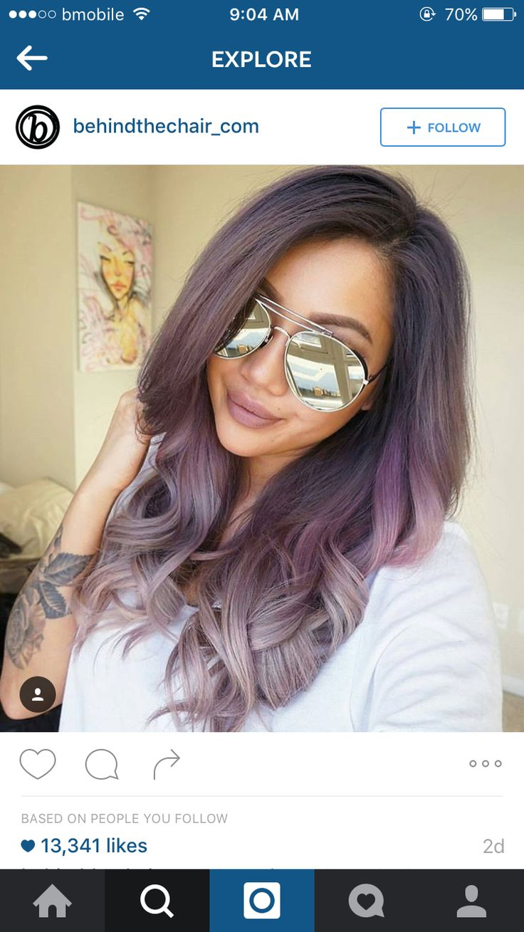 Lilac and grey ombre