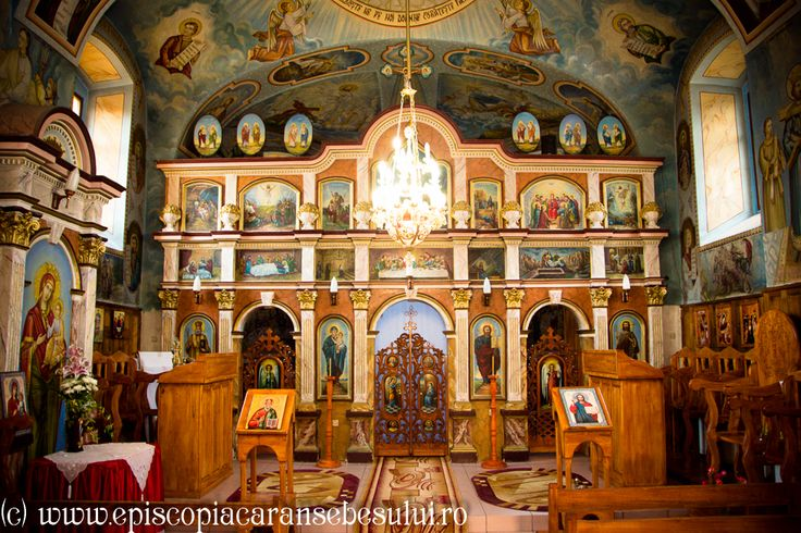 "Romanian Orthodox Church ""The Repose of the Holy Apostle and Evangelist John "" from Borlovenii Noi, Caraș-Severin County, Romania The Church was built in 1825. Romanian Orthodox Diocese of Caransebeș."