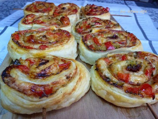 Kolorowy Przepisownik: Rollsy pizzowe w cieście francuskim