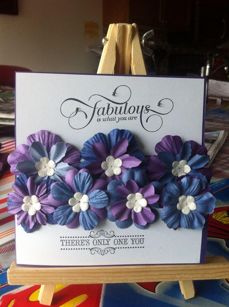Purple Flowerbed card