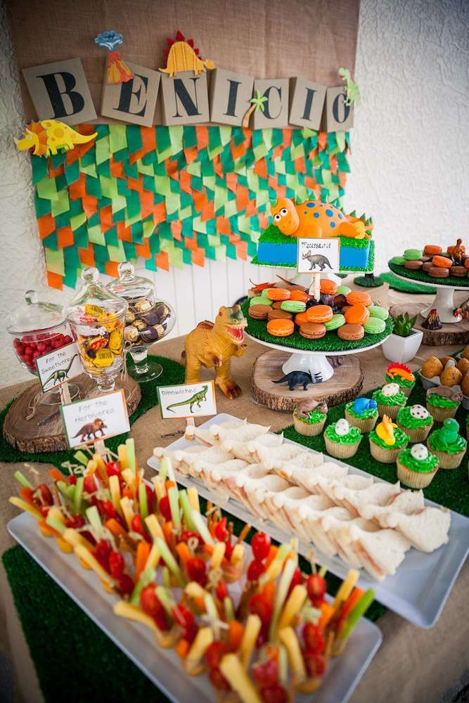 Dinosaurs Birthday Party Ideas | Photo 7 of 38 | Catch My Party