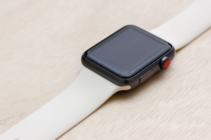 Apple Watch Sport Space Grey Case with Antique White Sport Band.