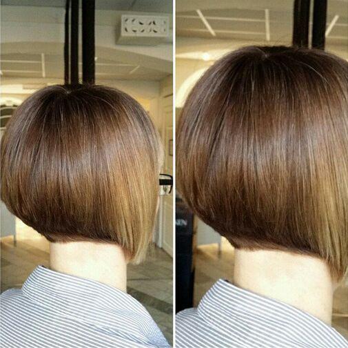Stacked Bob Haircut for Short Hair
