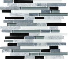 discount glass tile store bliss glass tile midnight linear 944 u003ca