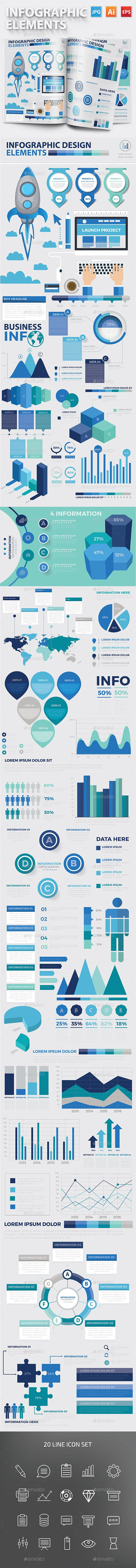 Infographic Elements Template Vector EPS, AI Illustrator