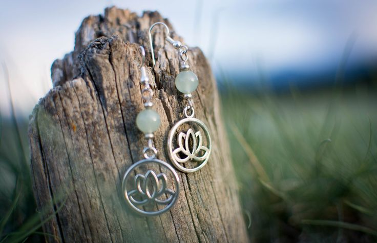 A personal favorite from my Etsy shop https://www.etsy.com/ca/listing/454228632/aventurine-lotus-earrings
