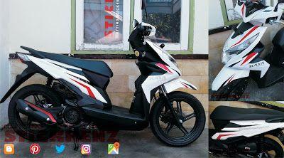 Honda Beat ESP White - Custom Branding Sticker