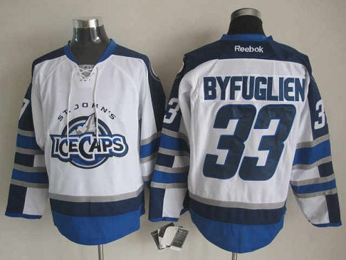 Jets #33 Dustin Byfuglien White St. John's IceCaps Embroidered NHL Jersey