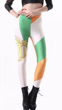 Vlaggen print legging Ivoorkust in een Ivoriaanse design. Deze print legging is gemaakt van een soepele stretch kwaliteit voor een comfortabele pasvorm. #kadehandel #trendyleggingsfashion #leggings #vlaggenprint #ivoorkust