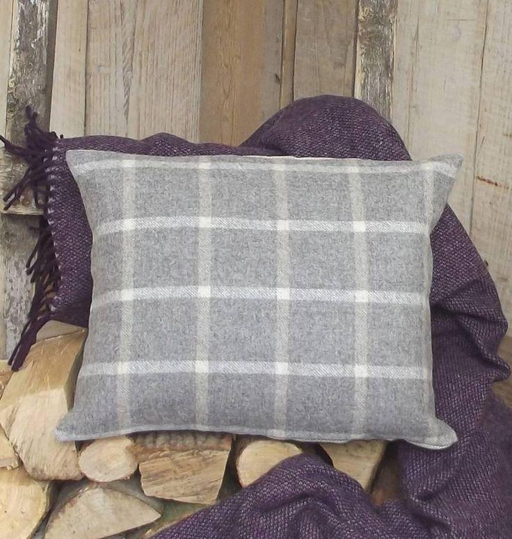 ' Soft Grey Luxury Tweed ' Cushion