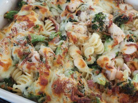 Ostegratineret pasta med kylling, Ostegratineret pasta