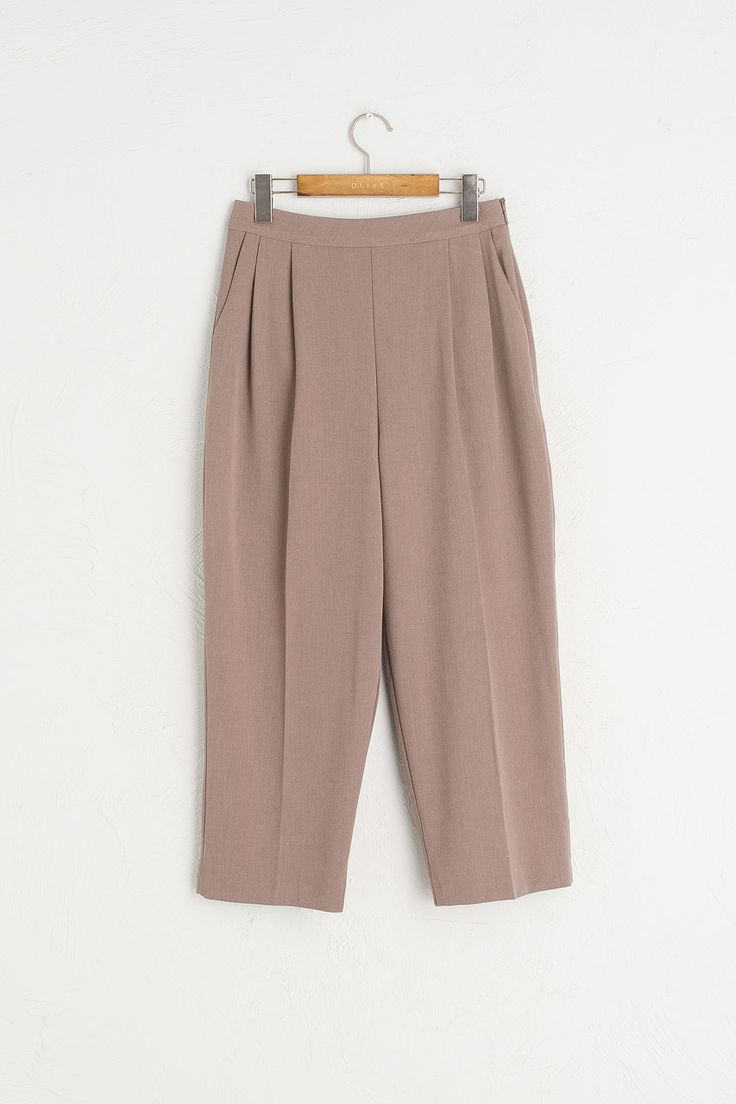 Pleated Pants, Truffle