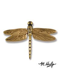 MH1011 Dragonfly Door Knocker In Brass And Bronze By Michael Healy