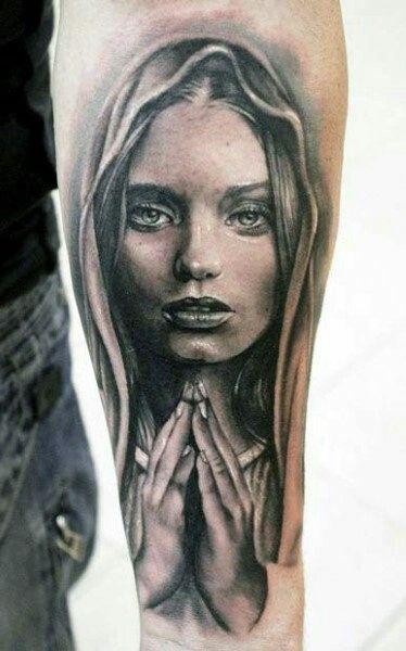 #tattoo #praying #prayer #girlytattoo #sleeve