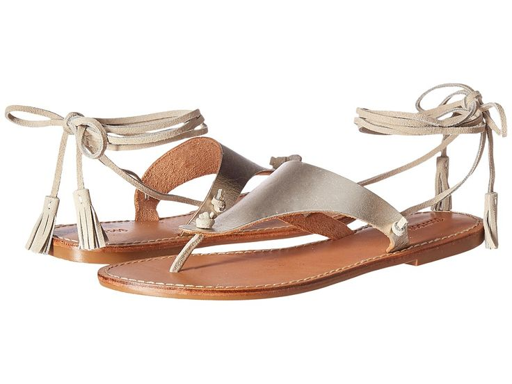 SOLUDOS SOLUDOS - THONG GLADIATOR FLAT SANDAL (PLATINUM LEATHER) WOMEN'S SANDALS. #soludos #shoes #