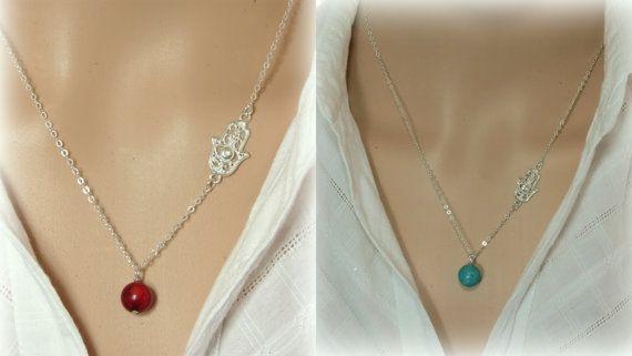 Gold Hamsa necklace, Hamsa necklace, Gold necklace, #jewelry #necklace @EtsyMktgTool http://etsy.me/2wGkQu9 #charmnecklaces #goldhamsa
