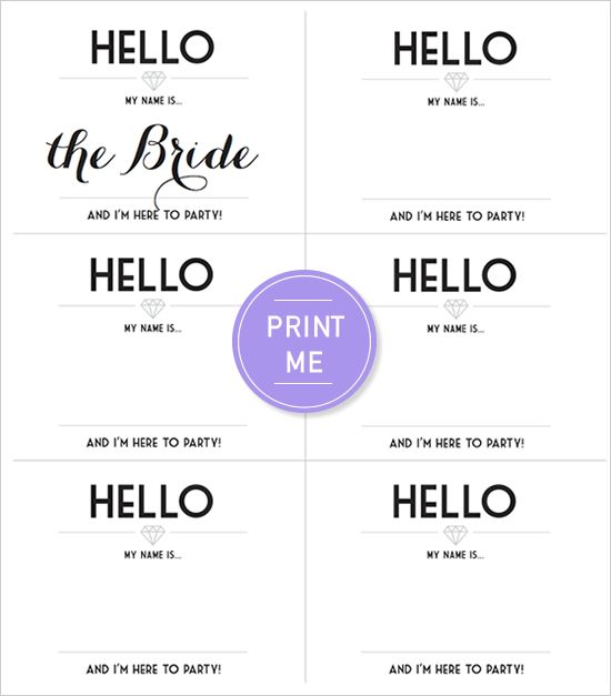 Free Printable Bachelorette Party Invitation Suite With