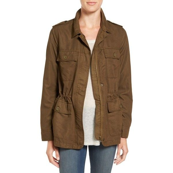 Women's Hinge Oversize Utility Jacket ($47) ❤ liked on Polyvore featuring outerwear, jackets, olive tree, army green jacket, olive utility jacket, olive jacket, brown utility jacket and army green utility jacket