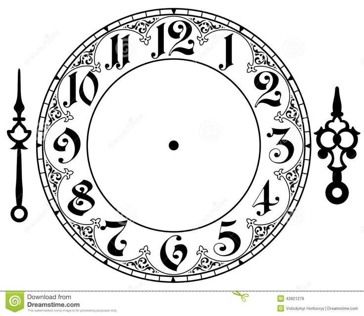 Vintage Clock Clipart - Clipart Kid