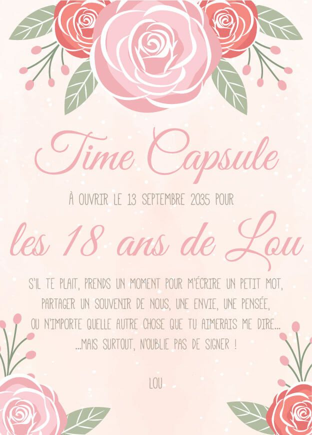 Time Capsule Message Premier Anniversaire Patisserie Pinterest