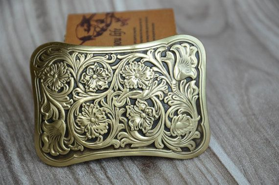 Men's Belt Buckle Abstract Solid Brass Buckle by rateaa on Etsy