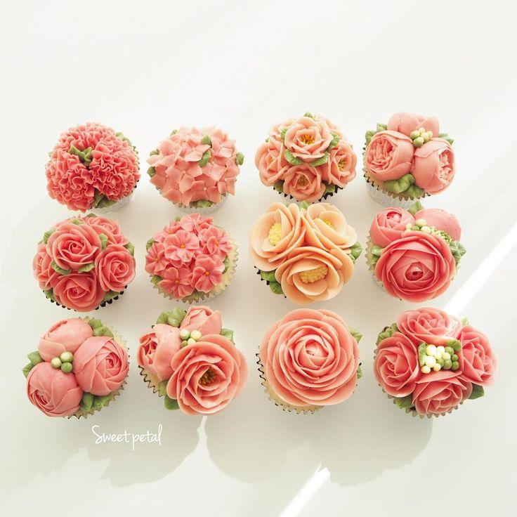 Repost sweetpetalcake  Flower buttercream cupcake