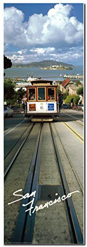 Grace your wall with this amazing San Francisco cable car art print poster. In this age of seat belts and air bags, a rickety ride on a much-loved San Francisco cable car is an anachronistic thrill. Cable cars may not be the most practical means of transportation but in San Francisco, a cable car ride is best loved and must-do experience when visiting the city. The San Francisco Cable cars is one of the most iconic symbols of this famous American city.