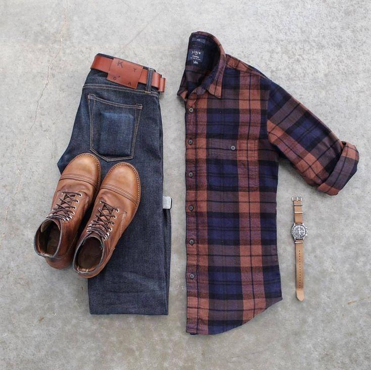 Tartan Plaid outfit ideas for guys