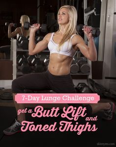 7-Day Lunge Challenge--one of the best workouts around!  #7days #lunge #workout #summerlegs