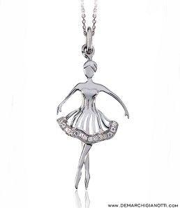 Tutù Gioielli collana in argento e zaffiri bianchi modello sw-autunno www.demarchigianotti.com