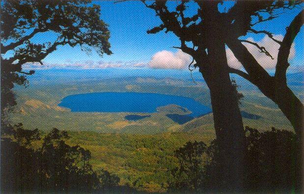A cool lake in the Parque Nacional Cerro Verde...