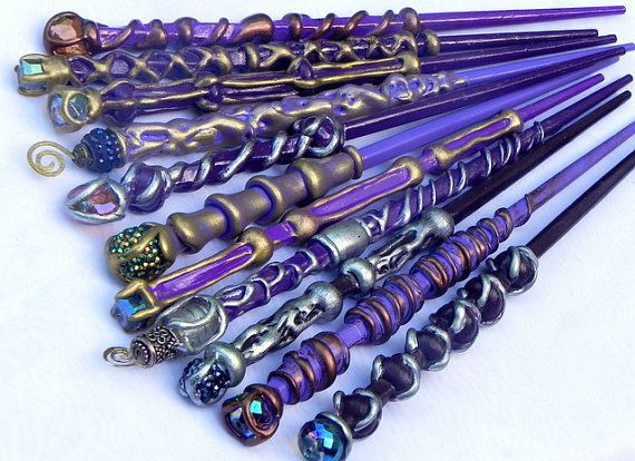 These darling purples are ready to fly to you! ~your wand will come wrapped in soft tissue and slipped inside my one of a kind signature