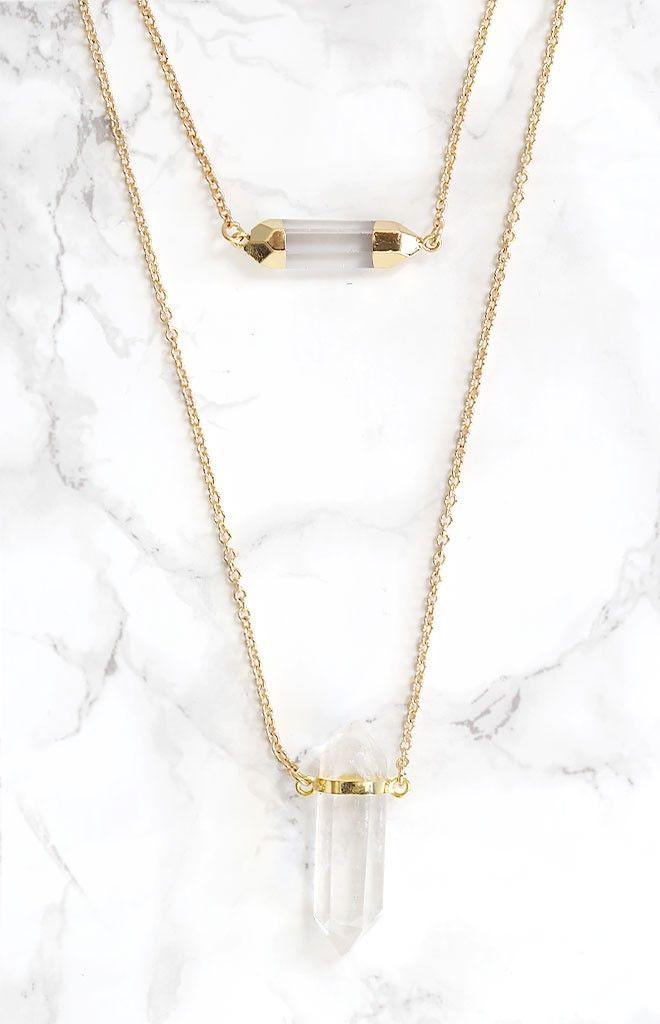 Minc Collections Double Quartz Necklace | Beginning Boutique #Bbfest @bboutique #beginningboutique