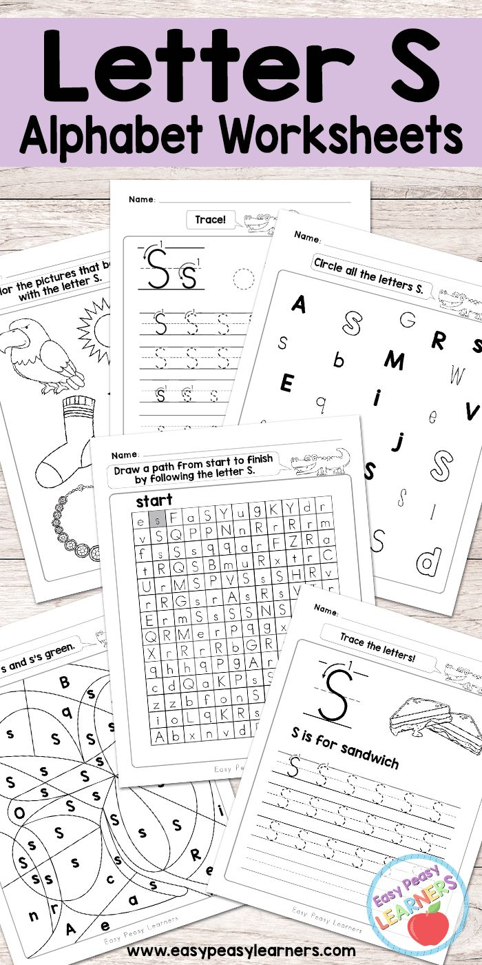 Free Printable Letter S Worksheets - Alphabet Worksheets Series