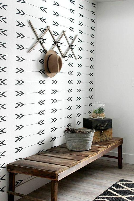 tapisserie noire et blanche