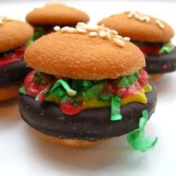 "Hamburger Cookies | ""These are SO MUCH fun!! The whole family just loved them and couldn't get enough!"""