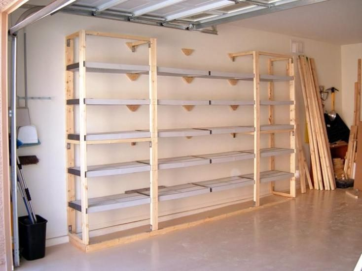 Garage Storage Shelving Plans Shelves Step By Instructions To Create Your Own