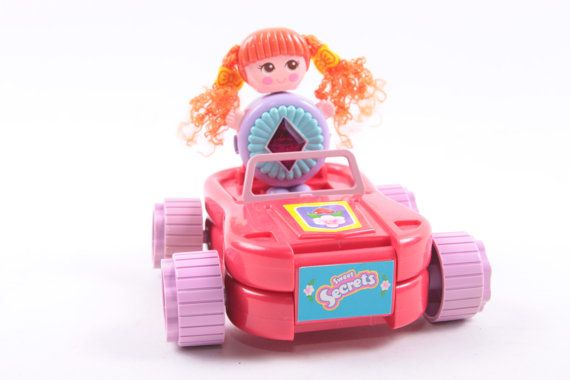 Galoob Vintage Car Red Head Doll Red Car Playset Transforms  The Pink Room  161220 by ThePinkRoom